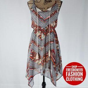 As U Wish | Midi Boho Handkerchief Scarf Dress (S)